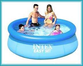 Семейные (наливные) бассейны easy set Intex и Bestway