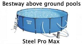 Bestway Steel Pro Max above ground steel frame pool